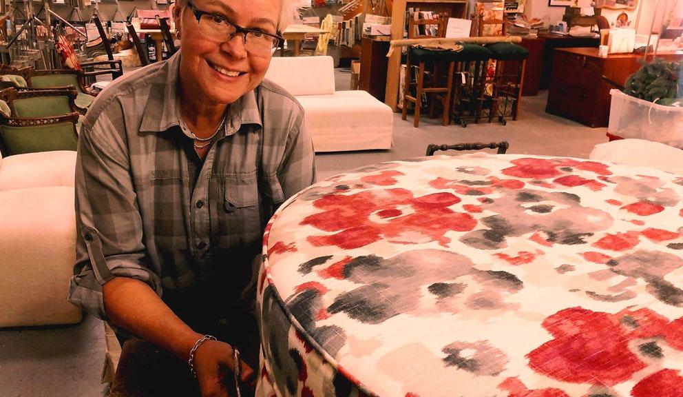 Owner of Woven Inspiration, Christine Becker, Galveston TX