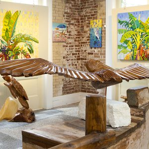 Interior View of a Galveston Art Gallery