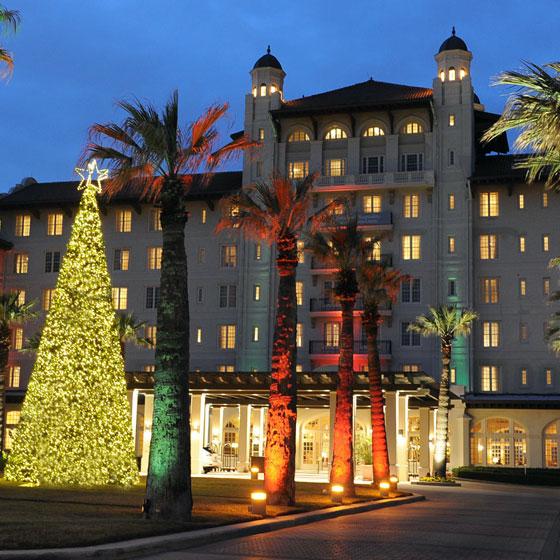 Holiday Lighting at Hotel Galvez