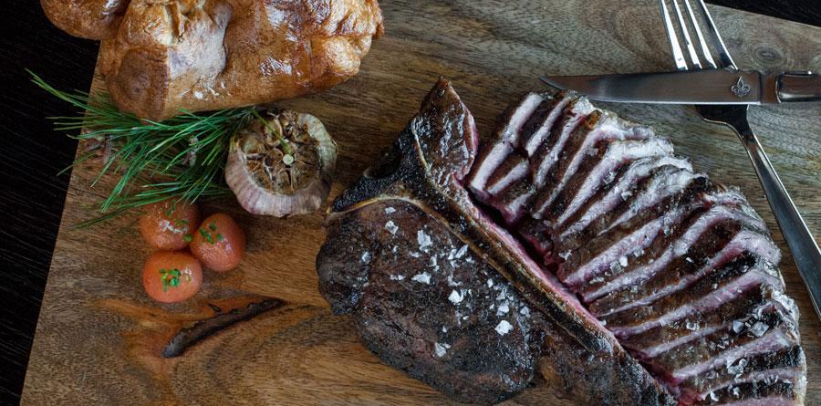 Porterhouse Steak at Number 13 Prime Steak and Seafood