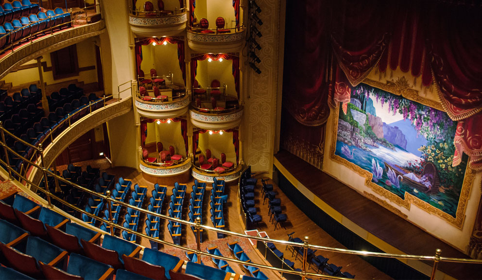 Interior View of The Grand 1894 Opera House, Galveston, TX
