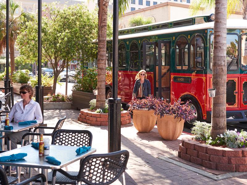 Trolley on Postoffice Street