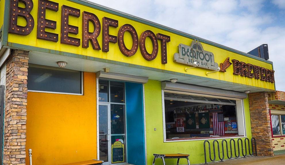Exterior of Beerfoot Brewery, Galveston TX
