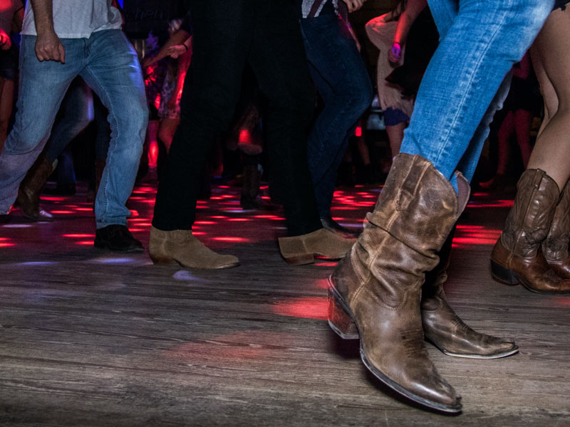 Country Dancing on a Dancefloor