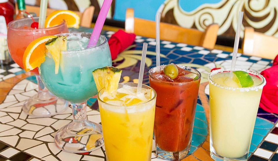 Drinks on Patio at Yaga