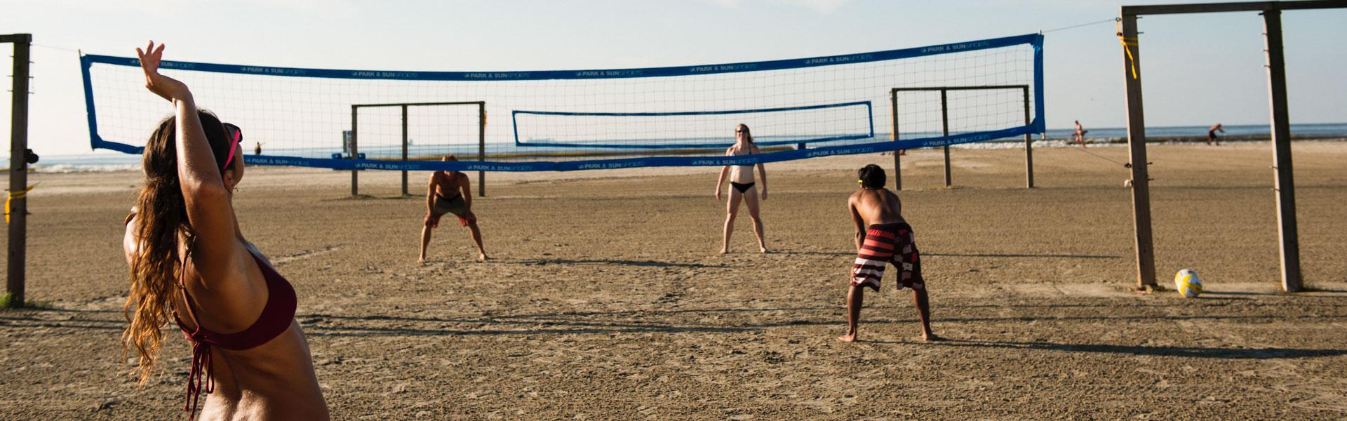 Beach Volleyball at R.A. Apffel Park, East Beach, Galveston TX