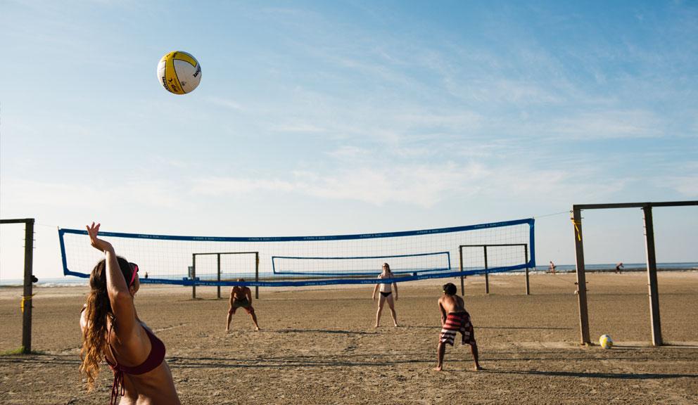 Beach Volleyball at R.A. Apffel Park, East Beach, Galveston