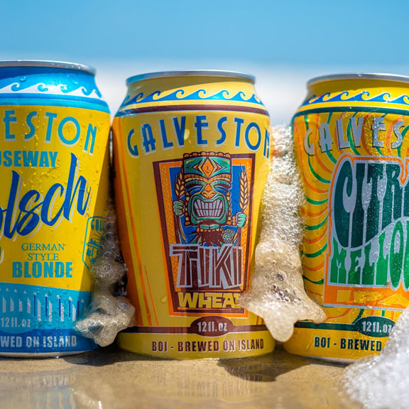 Several Flavors of Beer by Galveston Island Brewing Co., Galveston TX