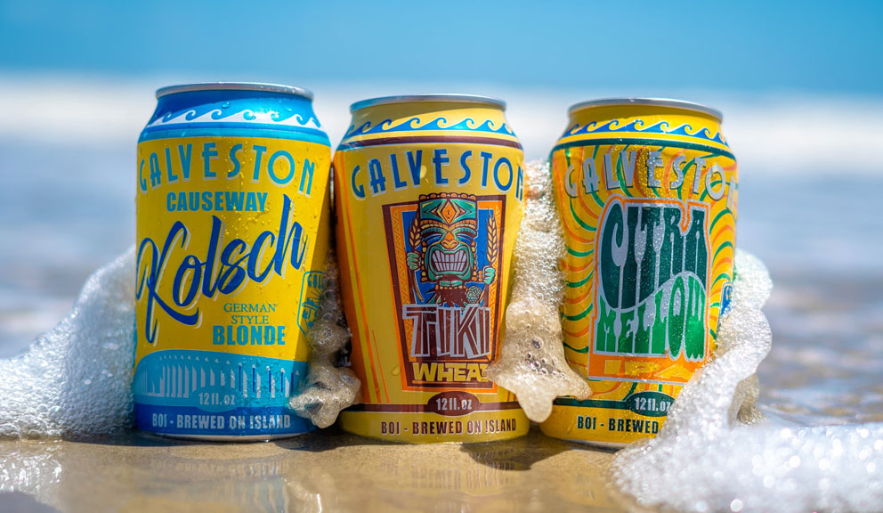 Several Flavors of Beer by Galveston Island Brewing Co., Galveston