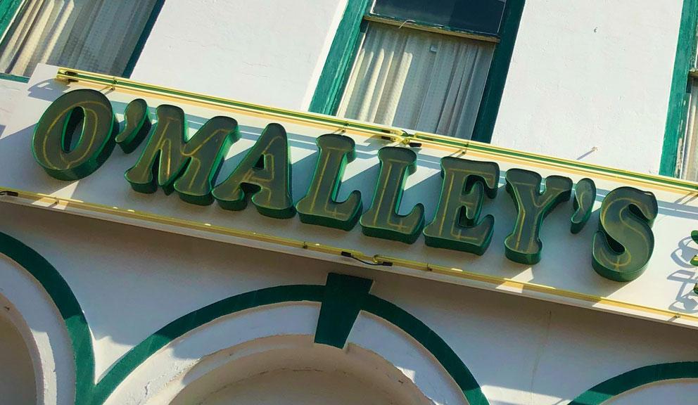 Exterior of O'Malley's Stage Door Pub, Galveston