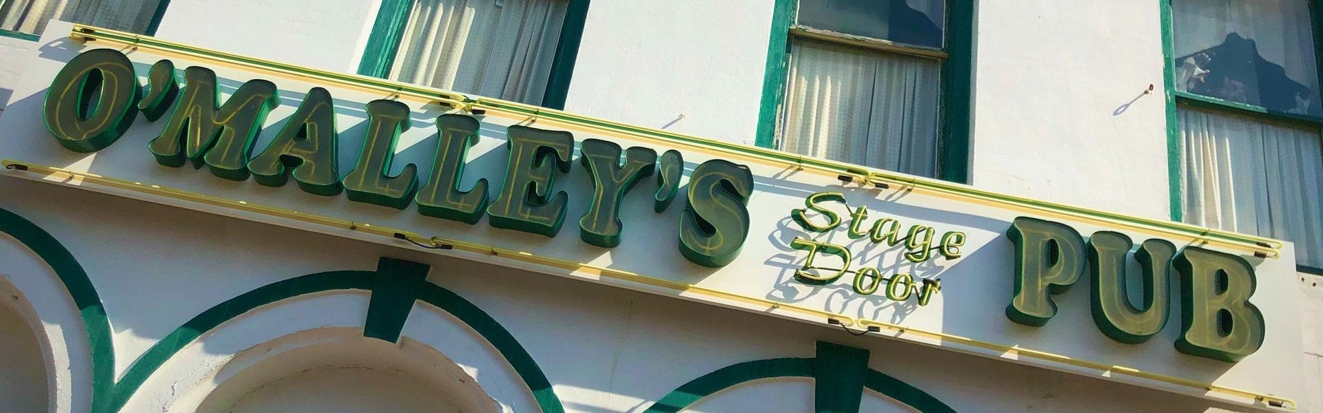 Exterior of O'Malley's Stage Door Pub, Galveston TX