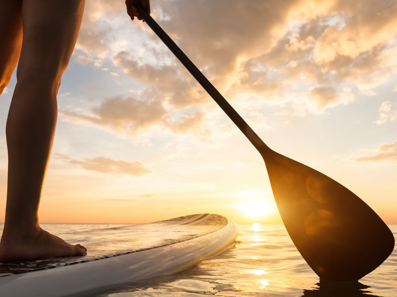 Stand Up Paddleboarder on Calm Water