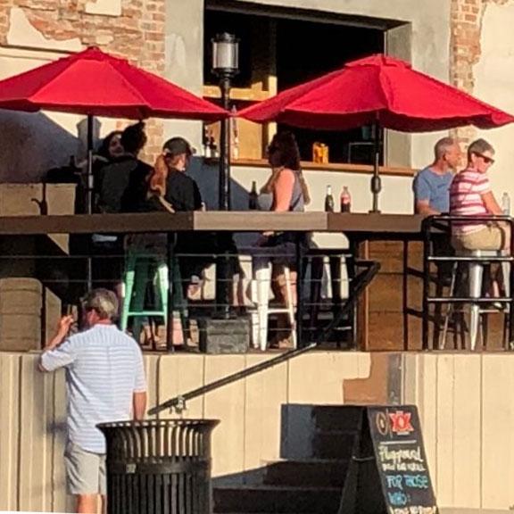 Exterior View of Playground Patio Bar & Grill, Galveston TX
