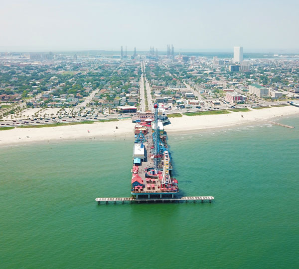Aerial View of the Pleasure Pier
