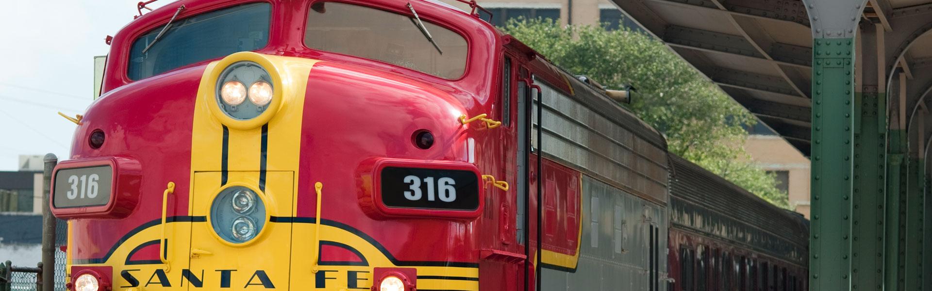 Train on Display at Galveston Railroad Museum