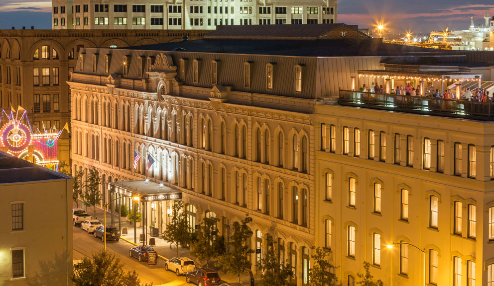 Exterior View of The Rooftop Bar at The Tremont House, Galveston