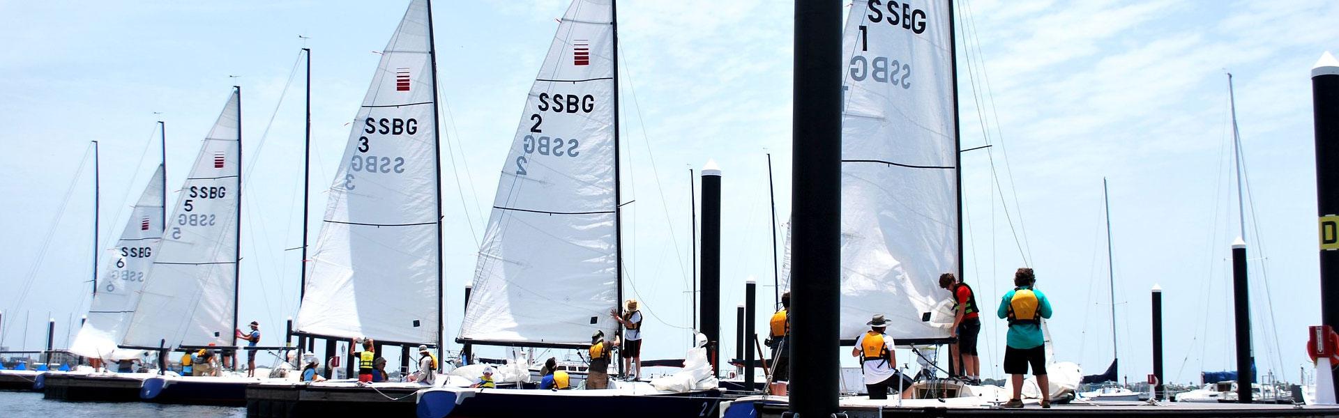 Learning How to Sail at Sea Star Base, Galveston TX