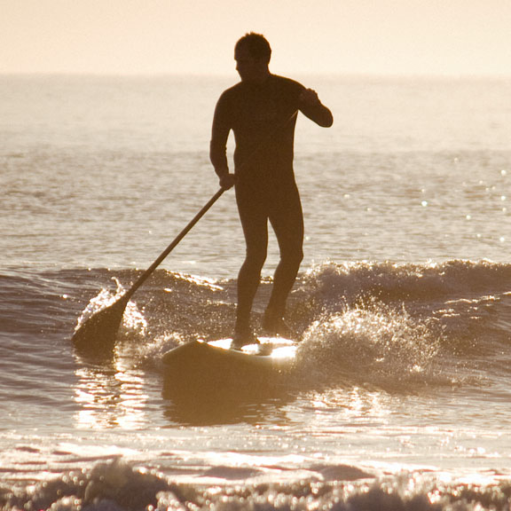 Male Paddleboarding, Galveston TX