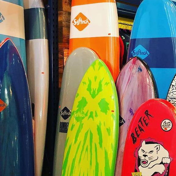 Surf Boards from Southern Spears Surf Shop, Galveston TX