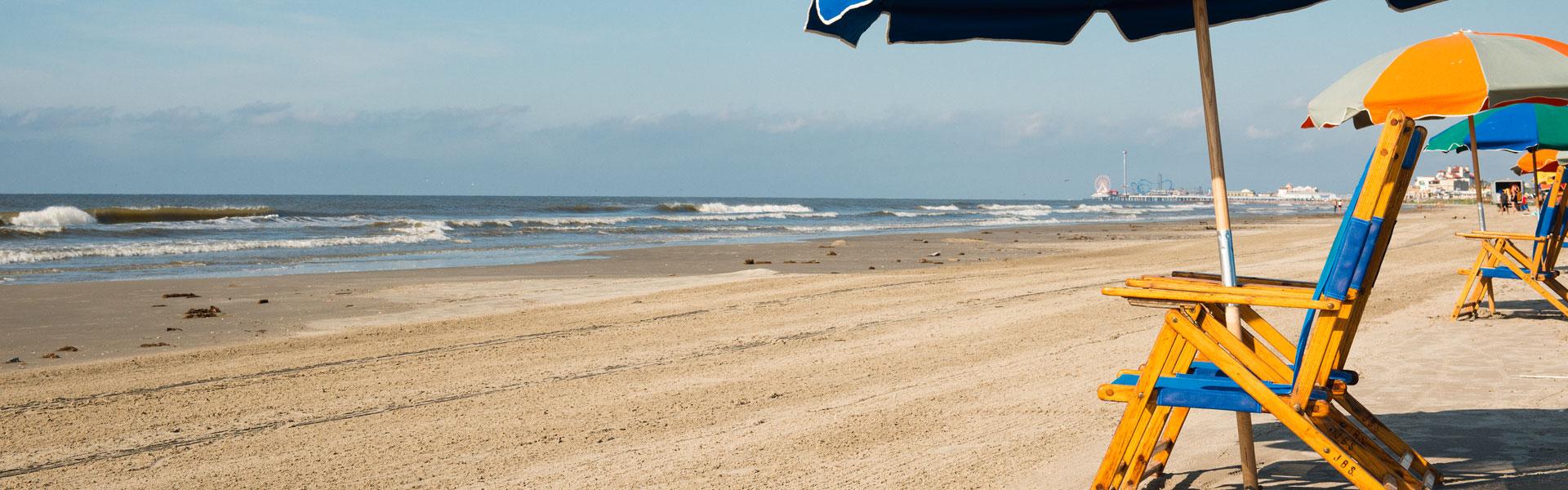 Looking Westward from Stewart Beach, Galveston TX