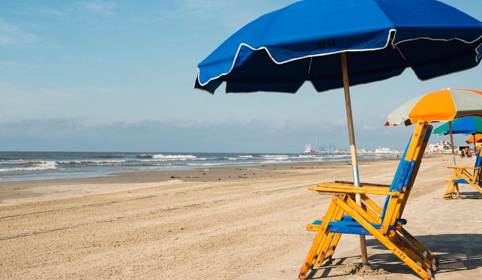 Looking Westward from Stewart Beach, Galveston