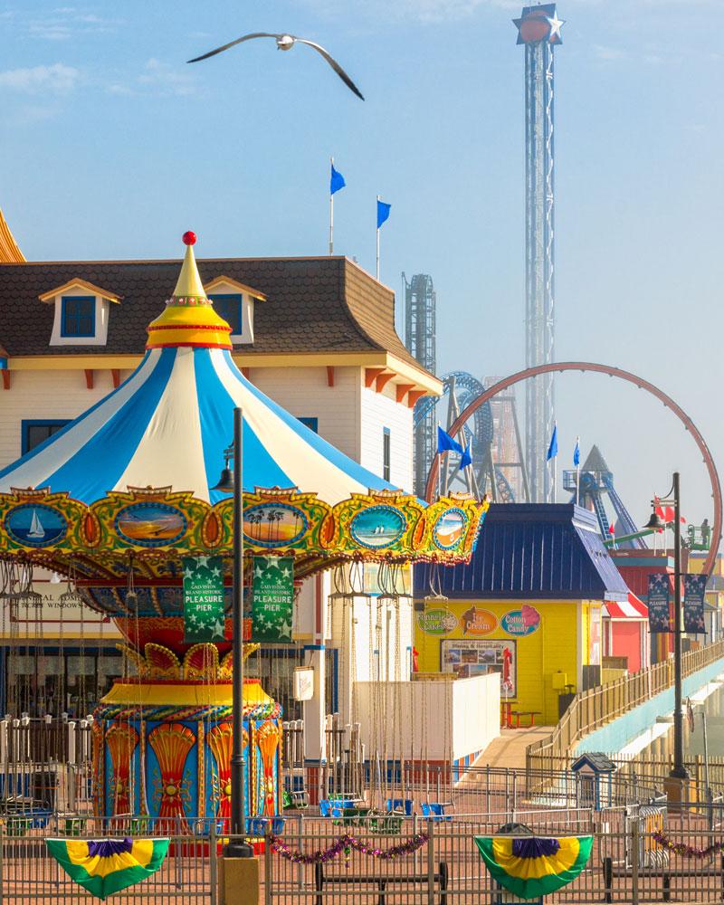 Galveston Island Historic Pleasure Pier, Galveston, TX