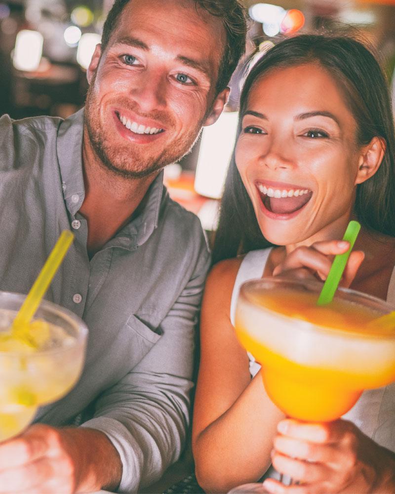 Couple Drinking Margaritas
