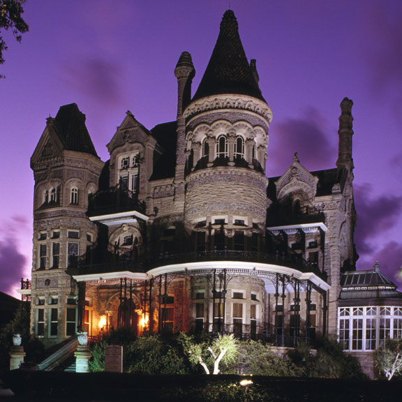 Evening View of Bishop's Palace, Galveston, TX