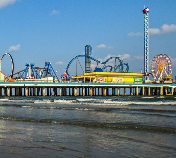 View of the Pleasure Pier from the Beach