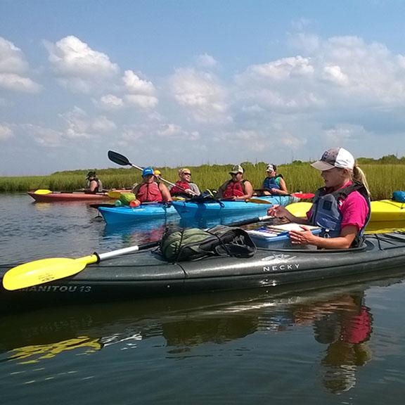 Artist Boat Kayak Adventures Visits Galveston's Most Pristine Environs, Galveston TX