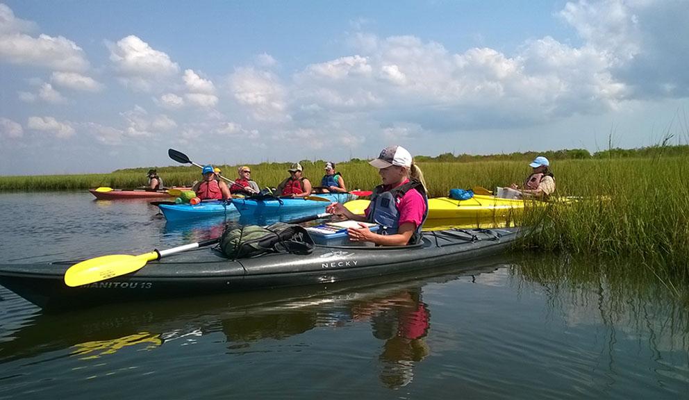 Artist Boat Kayak Adventures Visits Galveston's Most Pristine Environs, Galveston