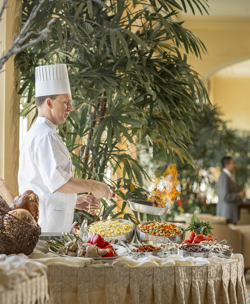 Chef at Hotel Galvez Brunch
