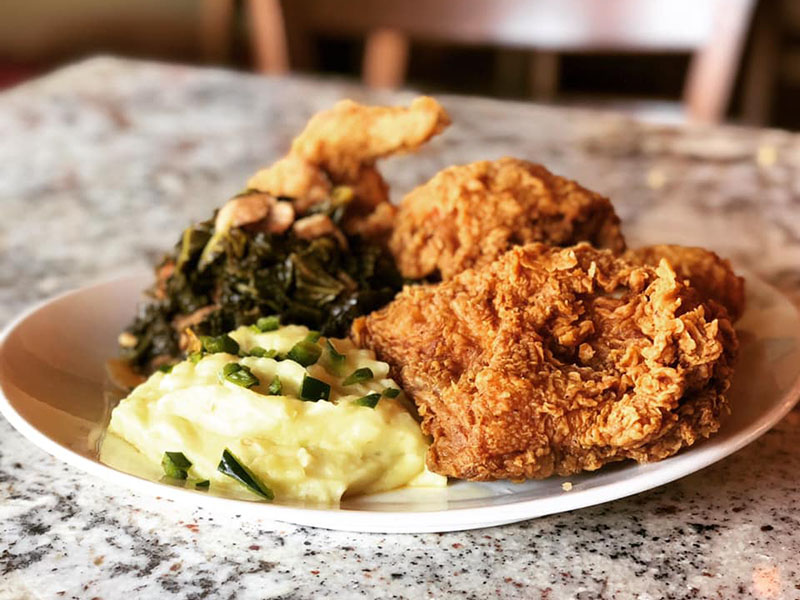 Fried Chicken at Hearsay on the Strand