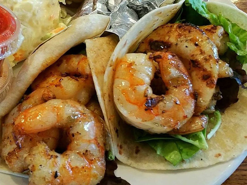 Grilled Shrimp Tacos at Mosquito Cafe