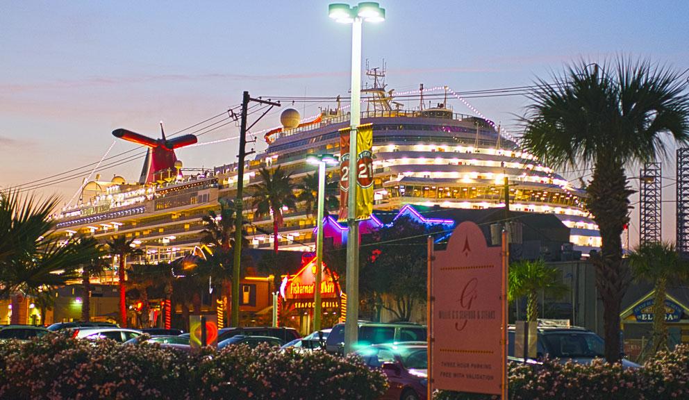 Cruise Ship at Galveston Cruise Terminal