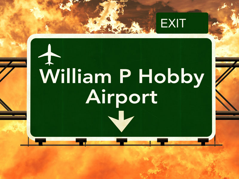 Hobby Airport Road Sign