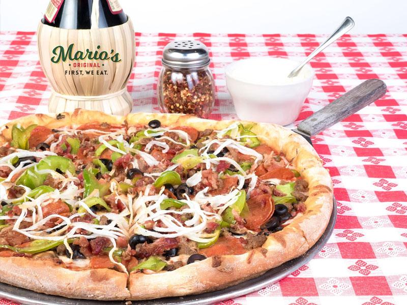 Pizza from Mario's Ristorante