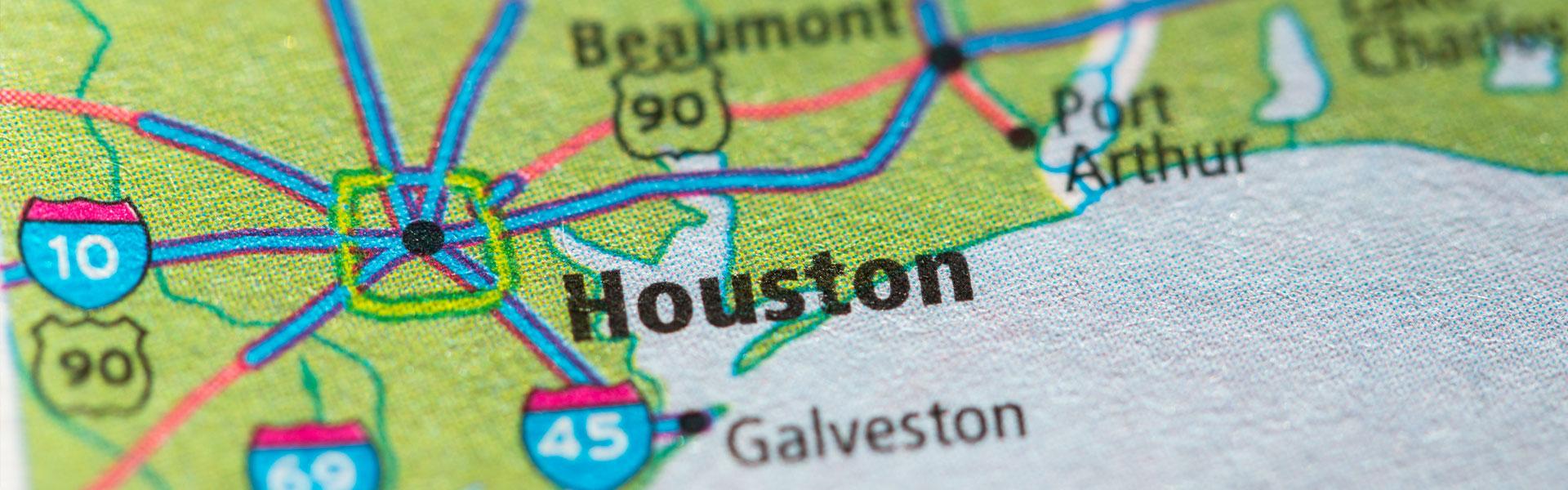 Map of Houston Metro Area