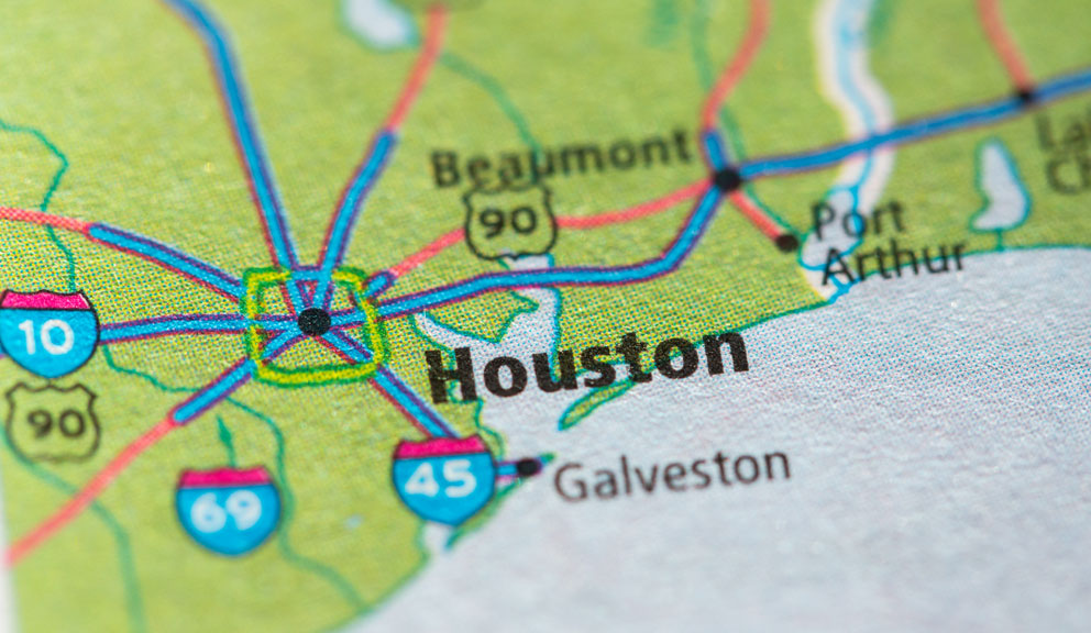 Map of Houston Metro Area