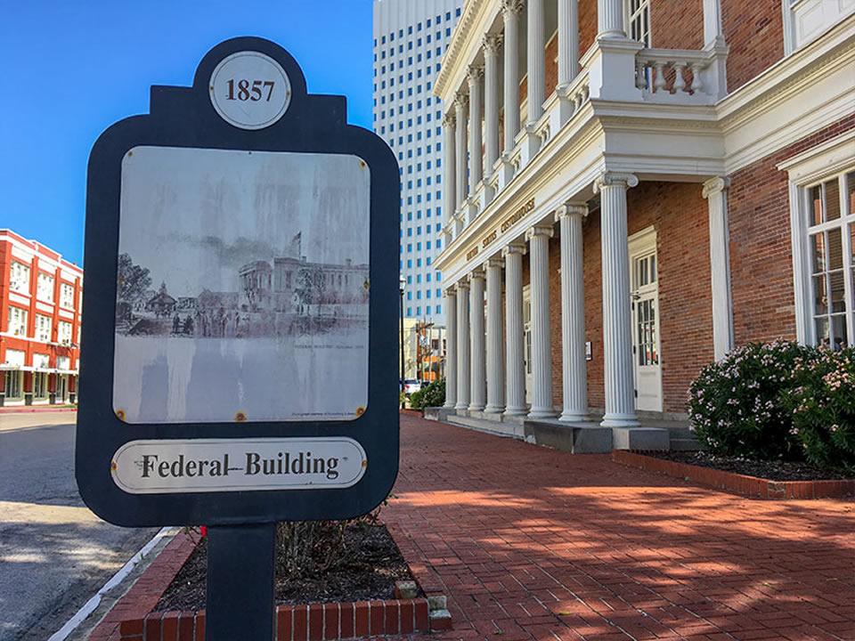1857 Federal Building Historical Marker
