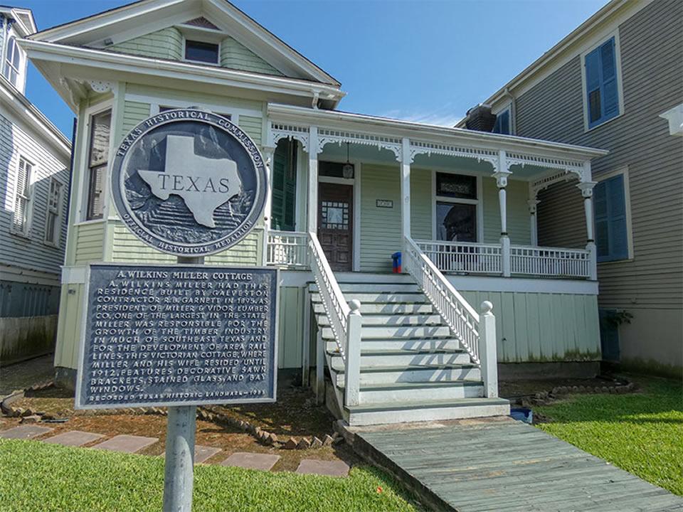 A Wilkins Miller Cottage Historical Marker