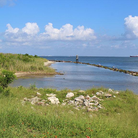 Fort San Jacinto Shore Line