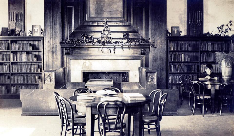 Rosenberg Library During 1905 Christmas