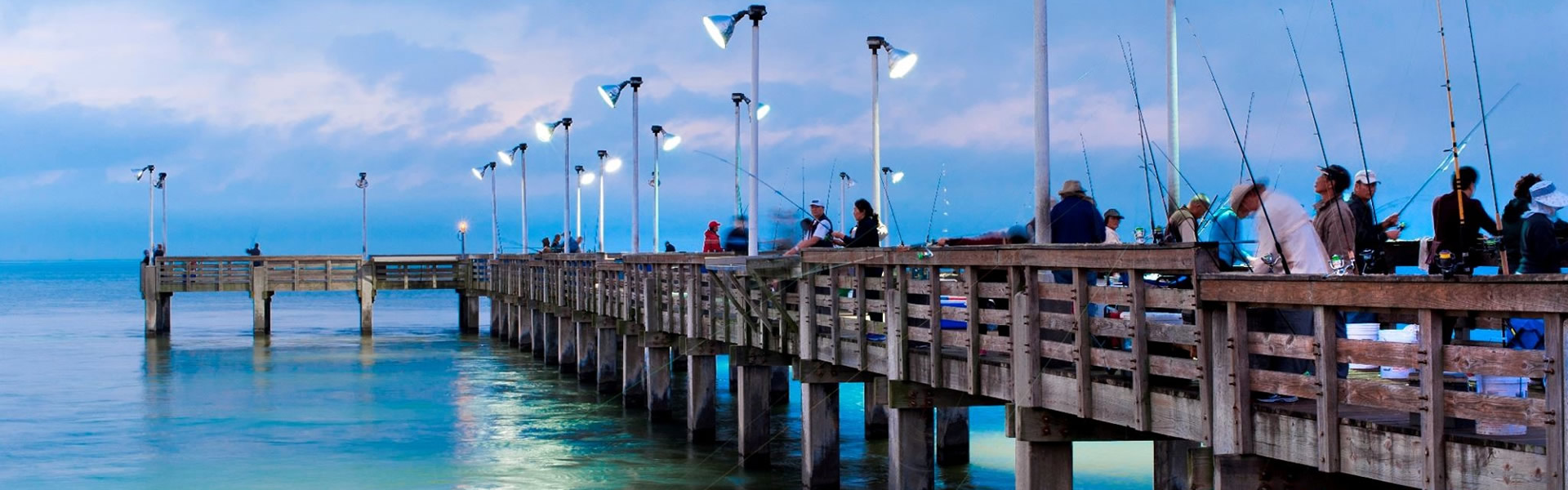 Seawolf Park Fishing Pier, Galveston TX