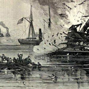 Illustration of the Battle of Galveston