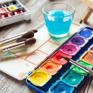 Collection of Watercolor Supplies