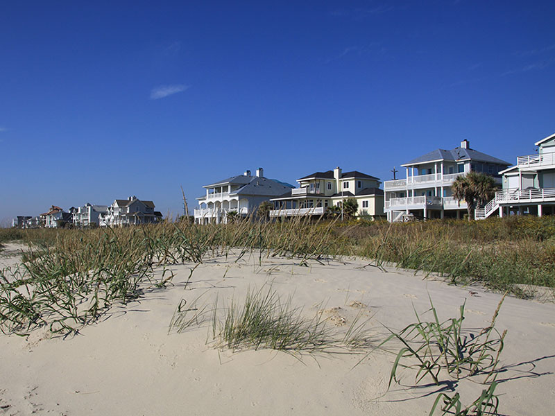 Beach Homes behind Dunes
