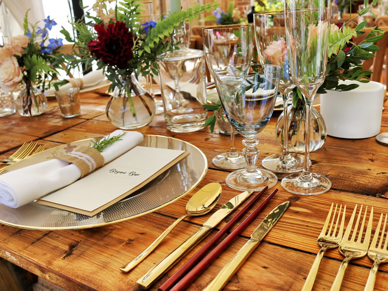 Carriage Caterers Table Setting Galveston TX