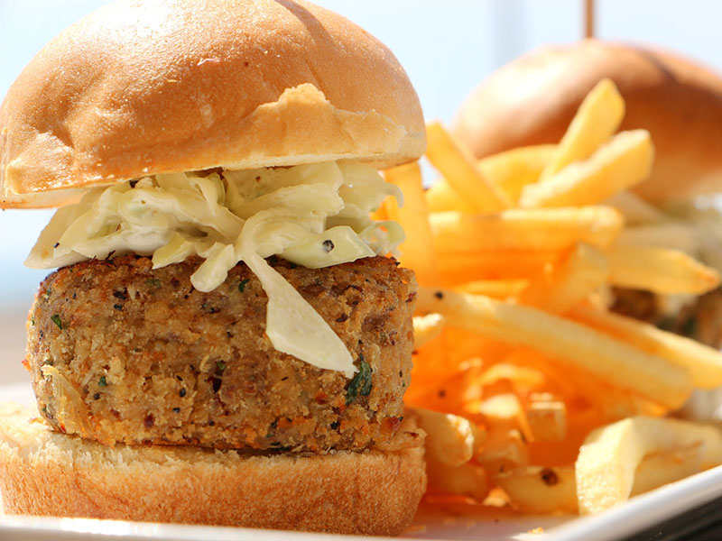 Crab Cake Sliders at BLVD Seafood