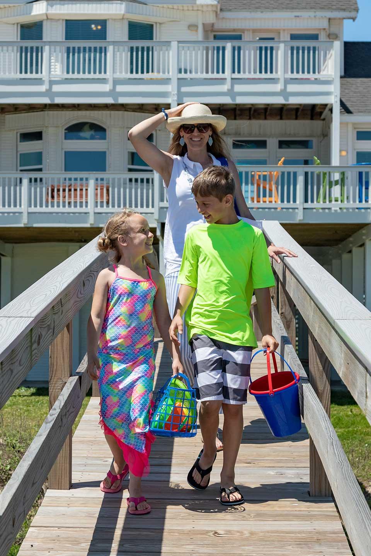 Family at Vacation Rental